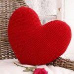 cojin corazon crochet