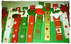 Fimo creations - fimo Christmas decorations( mollette di Natale)