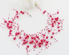 Crochet Necklace Pastel Necklace Circle by CraftsbySigita