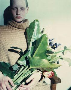 """shoulderblades: """"kirsten #4, jean-françois lepage for jil sander (unpublished polaroid), 1990 """""""