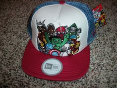 9aa45a3dd99 Rescue Team New NWT Mens Snapback Adjustable New Era Marvel Tokidoki HAT  LID  Tokidoki Christmas