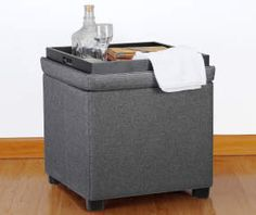 I found a Gray Square Tray Ottoman at Big Lots for less. Find more at biglots.com!