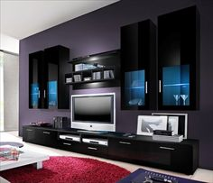 """tv wall units """"BLACK GLOSS COLLECTION """" in Home, Furniture & DIY, Furniture, TV & Entertainment Stands 