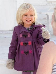 Toddler Jacket coat faux leather sheep fur lining wool toggle