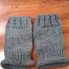 NWOT Men's Fingerless Gloves Aqua tweed. handmade Accessories Gloves