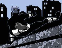 Kitsune Rooftops by Gaston25 on DeviantArt