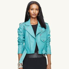 Leather Kaylin Jacket - Black Label Denim Jackets - RalphLauren.com. DESIRE ! TG