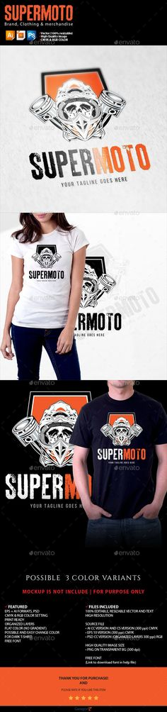 supermoto — Vector EPS #extreme #orange • Available here → https://graphicriver.net/item/supermoto/19293814?ref=pxcr