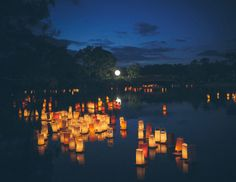 But October 21st is no average day. The Lantern Festival is part of a very important Japanese festival called Obon, in which ancestors' spirits are invited into descendants' homes.