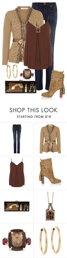 """""""Top & Sweater"""" by debbie2013 ❤ liked on Polyvore featuring 7 For All Mankind, Valentino, Dorothy Perkins, Michael Kors, Charlotte Olympia, LE VIAN, Dinny Hall and Kenneth Jay Lane"""