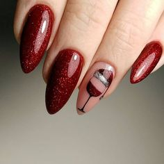 Newest Christmas Nail Art Ideas For 2019 - Page 8 of 8 - Vida Joven - Nails 5 practical ways to apply nail polish witho Xmas Nails, Holiday Nails, Red Nails, Christmas Nails 2019, Cute Nails, Pretty Nails, Nail Art Noel, Xmas Nail Art, Red Nail Art