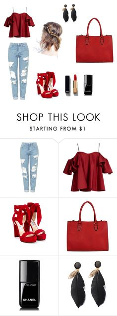 """""""Untitled #6"""" by munira-salihovic ❤ liked on Polyvore featuring Topshop, Anna October, Jimmy Choo and Chanel"""