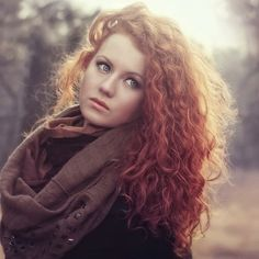 Long Red Hair with Perm