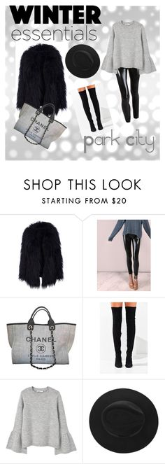 """Cozy chic"" by samantha-jones-8 ❤ liked on Polyvore featuring Chanel, Jeffrey Campbell and MANGO"