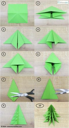 LEARN TO DRAW - DIY paper ideas with tutorials for decorations made only from paper. - DIY paper make DIY origami Christmas decorations together! Kids Crafts, Diy And Crafts, Rock Crafts, Homemade Crafts, Origami Christmas Tree, Xmas Trees, Origami Ornaments, Paper Ornaments, Oragami Christmas Ornaments