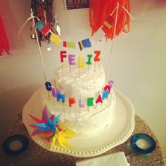 Fiesta Party - homemade two tiered cake