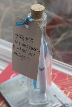 Vintage Inspired Message in a Bottle Wedding Invitations One