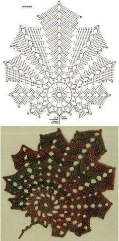 Watch The Video Splendid Crochet a Puff Flower Ideas. Wonderful Crochet a Puff Flower Ideas. Crochet Diy, Crochet Fall, Crochet Home, Thread Crochet, Irish Crochet, Crochet Doilies, Crochet Stitches, Single Crochet, Crochet Leaf Patterns