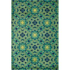 Skye Monet Green/ Multi Rug (7'7 x 10'5) - Overstock™ Shopping - Great Deals on Alexander Home 7x9 - 10x14 Rugs