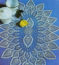 Oval Doily  Refinement  crochet scheme