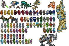 terraria plant bosses - Google Search Hama Beads Patterns, Beading Patterns, Energy Sword, Pixel Art Templates, Bad Memes, Terrarium Plants, Concept Weapons, Medieval Fantasy, Perler Beads