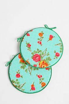 Oilcloth Chair Cushions, for cafe chairs, for front porch