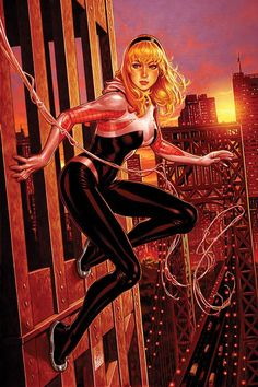 Spider-Gwen #4 - New York variant cover by Mark Brooks *