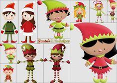 Duendes del Clipart Ayudando a Santa Claus. | Ideas y material gratis para fiestas y celebraciones Oh My Fiesta!