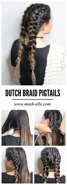 Finally a simple and straightforward Dutch braid pigtail tutorial! @suavebeauty @walmart You'll want to pin this for later! #SuaveBeliever #pmgSuave #Pmedia #ad