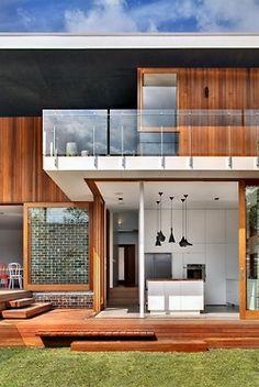 Great sliding doors to exterior