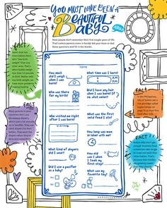 Activity for children: Ask your mom or dad these questions about you when you were a baby, and fill in the blanks. This free printable would be a fun classroom activity and includes facts about babies born in poverty. Fun Classroom Activities, Activities For Kids, Child Sponsorship, Magazines For Kids, Baby Born, Words Of Encouragement, Beautiful Babies, Teaching Kids, Compassion