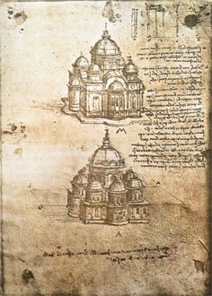 Studies of central plan buildings, 1480 Leonardo da Vinci