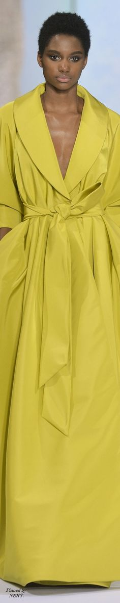 Read More About Ralph & Russo Fall-Winter Couture. High Class Fashion, Fashion 2020, Ralph And Russo, Yellow Fashion, Little Boy Blue, Shades Of Yellow, Mellow Yellow, Classy Women, Yellow Dress