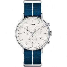 e290c8c9ee3 A multifunction chronograph watch with minimalist Bauhaus influences is the  Women s Fairfield Chronograph Nylon Strap Watch. Shop Watches at Timex.