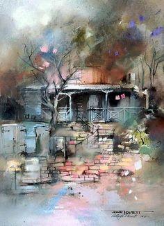 JOHN LOVETT (1953 - ), Original Pastel Painting, 1987,30cm x 23cm