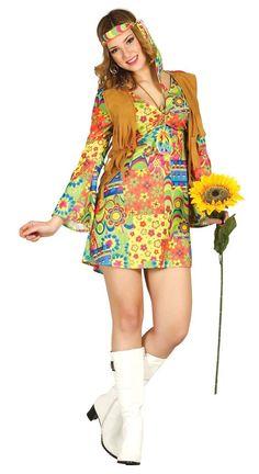 Disfraz de Hippie Mujer disponible en www.disfracesmurillo.es #disfraces #paz