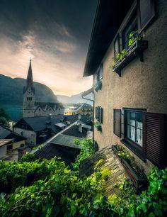 Sunrise Over Hallstatt by İlhan Eroglu / 500px Best Places In Europe, Best Places To Travel, Landscape Art, Landscape Photography, Hallstatt, Destinations, Le Shop, France, Modern Art Prints