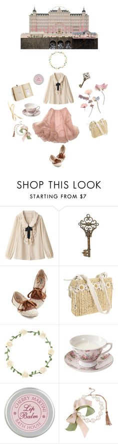 """The Grand Budapest Hotel"" by rosettepetals ❤ liked on Polyvore featuring Brighton, 1&20 Blackbirds, CO, The Unbranded Brand and Betsey Johnson"