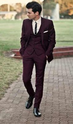 3-piece burgundy suit. Love it.
