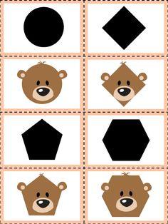 Preschool Learning Activities, Fun Activities For Kids, Preschool Kindergarten, Book Activities, Kids Learning, Shapes Worksheet Kindergarten, Shapes Worksheets, Teddy Bear Day, Goldilocks And The Three Bears