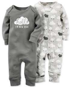 Carter's Baby Boys' or Baby Girls' 2-Pack Little Lamb Coveralls - Sets & Outfits - Kids & Baby - Macy's