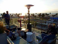 Enjoy the Venice Beach scene at High Rooftop Lounge