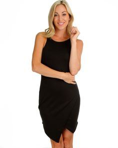 BLACK ROCKSTEADY AND READY BODYCON DRESS