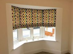 This customer choose a lovely modern fabric for their roman blinds in  bay window. Book online for a free apppointment to see our fabric range or choose your own fabric and we will make it for you!  http://ift.tt/1ocfyRO