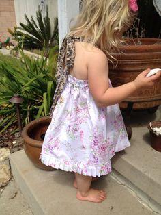 Lucinda Leopard Shabby Dress by Caswellandcompany on Etsy, $27.00