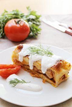 Pasiune pentru bucatarie: Clatite umplute cu pui si ciuperci,la cuptor
