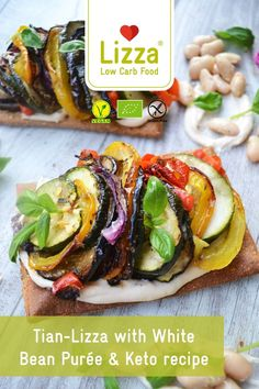 Healthy, low carb lunch recipe at home or make it a dinner for two! Head over now to find this delicious vegan recipe along with many more from Lizza! #lizza #glutenfree #lowcarbrecipe #healthyrecipe #lunchideas #veganrecipe Wheat Free Recipes, Low Carb Recipes, Vegan Recipes, Healthy Meals For Kids, Healthy Meal Prep, Zucchini, White Bean Puree, Vegetable Tian, Low Carb Pizza