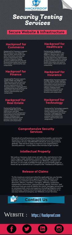 Hackproof for Technology supports security needs of technology-centric organizations and service providers, helping protect their networks and confidential customer information from hackers, data breaches and compromise. Visit Us :https://hackproof.com