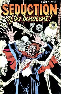 Dave Stevens, Seduction of the Innocent 1 of 3, published in 1985 by Eclipse Comics.  Genre:  Horror, adult entertainment, Pencil and Ink written in humor of Dr. Wertham's SOTI crusade.