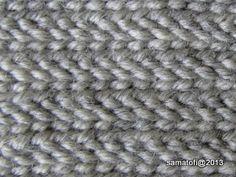 venäjäksi 1+1+1 lettireunus, Telemark Stitch, Russian Stitch 1+1+1 plaited edge, UOU/OUOU F1